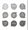 modern badges gray collection vector image vector image