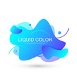 modern minimal liquid gradient splashes with vector image vector image