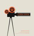 movie film reel and filmstrip vintage poster vector image