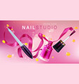 nail studio manicure salon brand poster vector image