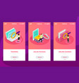 online learning isometric composition vector image vector image