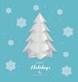 paper art christmas tree merry christmas vector image vector image