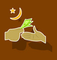 paper sticker on theme arabic business transfer vector image