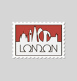 postage stamp with london vector image