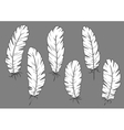 Quill pens icons with white fluffy feathers vector image vector image