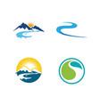 river icon design vector image