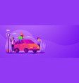 road trip web banner concept vector image vector image