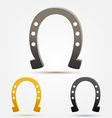 Set of Horseshoe icons vector image