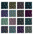 Set of seamless stars patterns