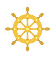 ship wheel icon flat style vector image vector image
