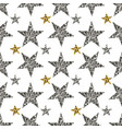 silver stars on white background vector image vector image