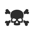 skull and crossbone icon images vector image