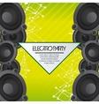 Speaker icon Electro Party design graphic vector image vector image