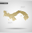 stylized panama map vector image vector image
