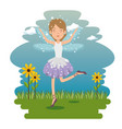 sweet and cute fairy cartoon vector image vector image
