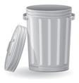 trash can 02 vector image vector image