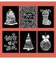 Typographic Christmas and New Year cards vector image vector image