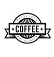 Vintage Coffee sign or logo vector image vector image