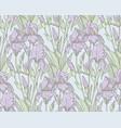 vintage iris flowers pattern vector image vector image