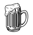 vintage monochrome beer mug template vector image vector image