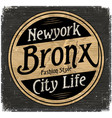 vintage new york brooklyn typography t-shirt vector image vector image