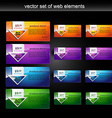 web element set vector image