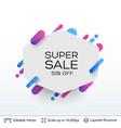 white badge super sale sticker vector image