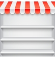 White Showcase with Red Awning vector image vector image