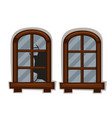 windows in good and bad condition vector image vector image