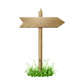 wooden signboard in a grass vector image vector image