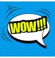 Wow comic wording vector image