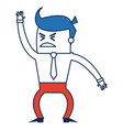 cartoon business man success people gesture vector image