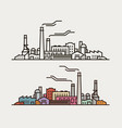 industry concept industrial enterprise factory vector image