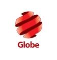 abstract logo Globe vector image vector image