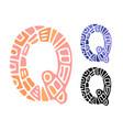 alphabet letter q kids education poster or vector image vector image