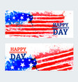 american independence day banners with watercolor vector image vector image
