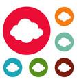autumn cloud icons circle set vector image vector image