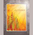 autumn scene background vector image vector image