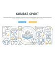 banner combat sport vector image vector image