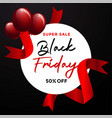 black friday sale banner layout graphic background vector image vector image