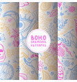 boho hand drawn seamless pattern vector image