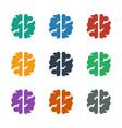 brain icon white background vector image vector image
