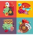 Casino gambling concept set with win money vector image vector image