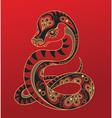chinese horoscope year snake vector image vector image