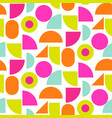 color block bright shapes seamless pattern vector image vector image