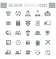 Delivery and logistics services flat silhouette vector image