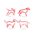 dog logo and icon design concept template vector image