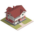 family house isometry hyper detailing isometric vector image vector image