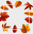 frame template with orange leaves vector image vector image