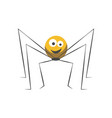 friendly spider with round body and long thin legs vector image vector image